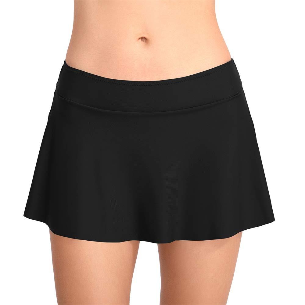 ZYBC Bikini Bottom Sexy Swim Röcke Für Frauen Einfarbig Einfache Rüschen Bikini Bottom Swimdress Strand Cover-up Rock