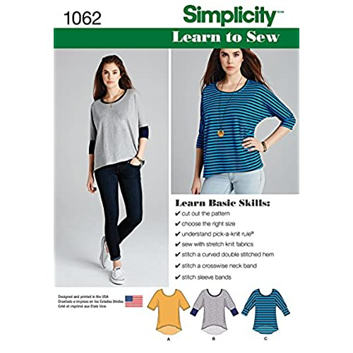 9504fd83a76 Simplicity Easy-To-Sew Pattern 5443 Womens and Mens Scrub Top, Jacket in