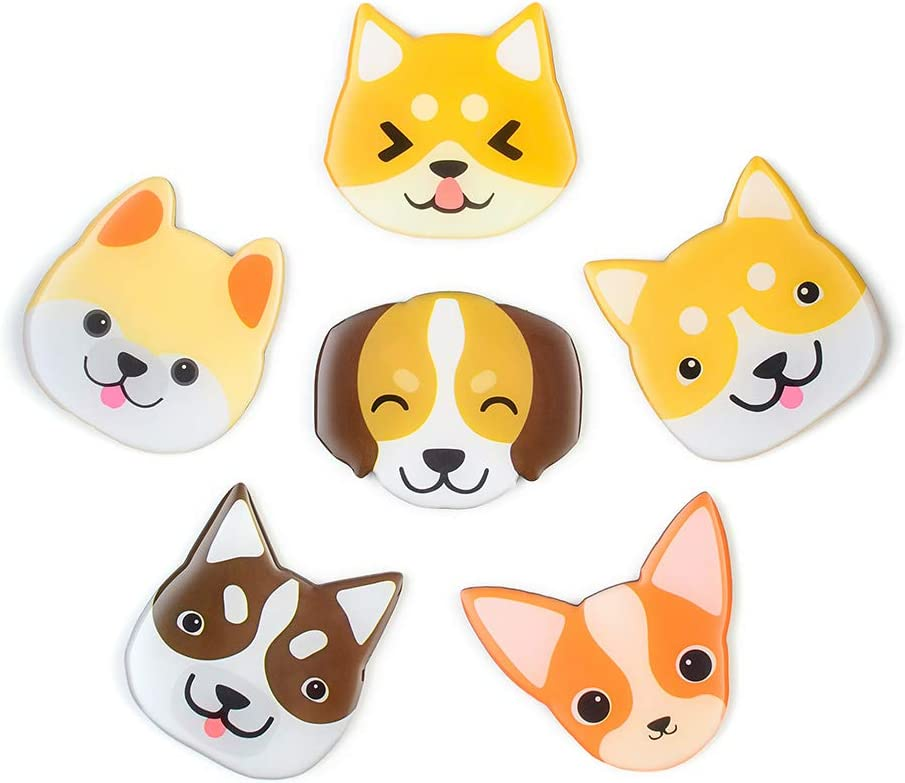 Cute Dog Magnets 3D Pattern 6 Pack Suitable For Kitchen Kids Toys Student Locker Office Menu Message Board Refrigerator Magnets