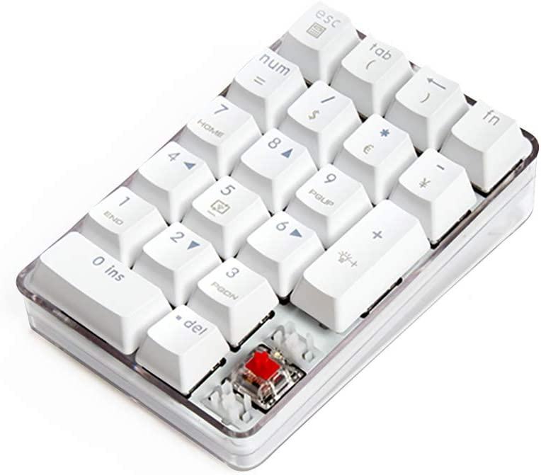 MQUPIN Number Pad Blue Switch Mechanical USB Wired Numeric Keypad ...