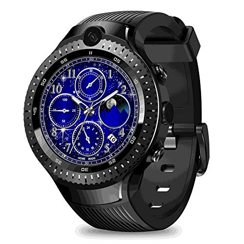 Leegoal New Zeblaze Thor 4 Dual SmartWatch, Zeblaze Thor Dual Camera Android Watch 1.4-inch AMOLED Display 4G Dual Camera,1+16G Memory,Fitness Tracker for Men and Women