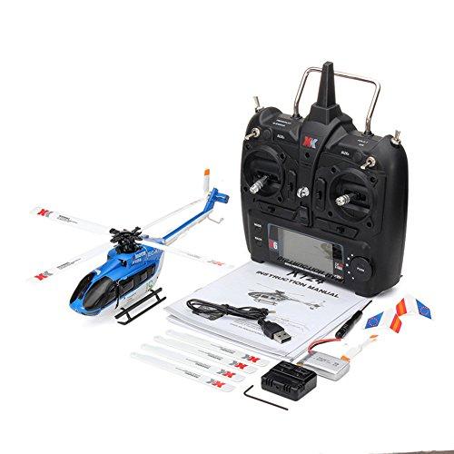 Rabugoo 3D ヘリコプター XK K124 RC ドローン おもちゃ BNF トランスミッターなし 6CH ブラシレスモーター ヘリコプター システム FUTABA S-FHSS 互換性 おもちゃ 送信機