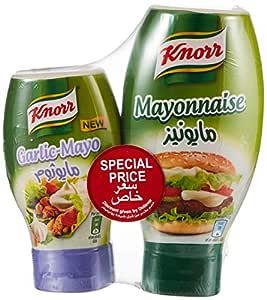 Knorr Mayonnaise Original, 532ml + Mayonnaise Garlic, 266ml