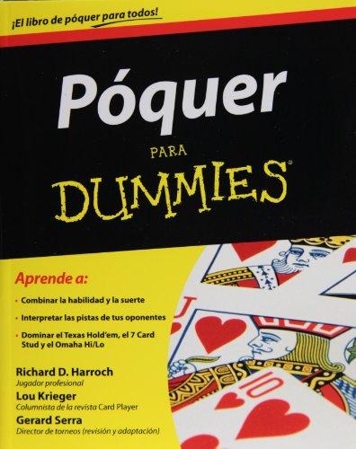 Poquer para dummies (For Dummies) (Spanish Edition)