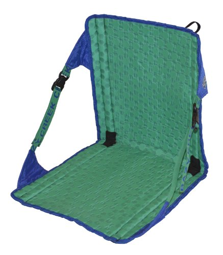 Crazy Creek Products HEX 2.0 Original Chair (Royal Blue / Emerald Green) - Lightweight and Packable Camp Chair for Hiking, Backpacking, Camping, Boating and Stadium use