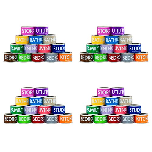 Moving Labels Color Coding Packing & Storage Tape Rolls Set By TOTALPACK - Heavy Duty Firmly Sticking Coded Box...