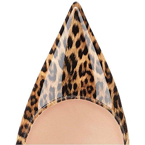 Robe Pan Caitlin Pompes Rouge Aiguilles on Escarpins Bout Talons Pointu de Femmes Semelle 85MM Slip Leopard PdHqUCd