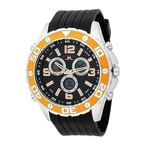 U.S. Polo Assn. Sport Men's US9072 Analog-Digital Black Dial Black Rubber Strap Watch
