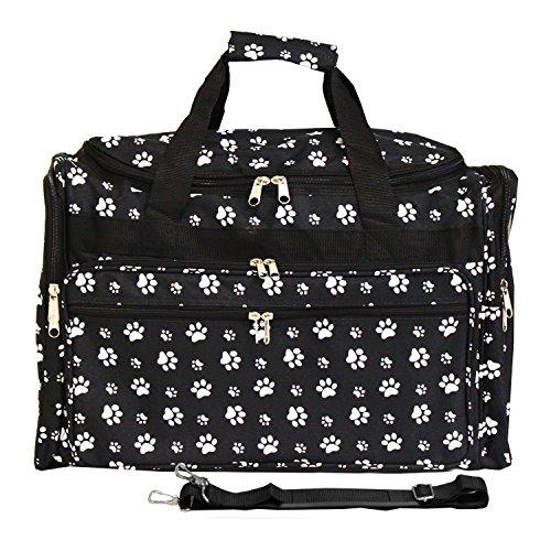 "Luggage 19"" Duffle Bag, Black White Paws, One Size"
