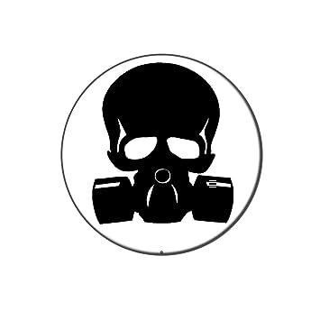 Zombie Outbreak respuesta Team diseño de calavera máscara de gas Metal camiseta de gorro de solapa