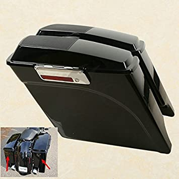 TCMT Vivid Black 5quot Stretched Saddlebags Speaker Lid For Harley Road King Street Glide Click To Open Expanded View