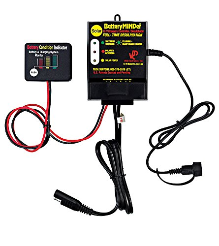 BatteryMINDer SCC-180 12-V, 16 Amp, 180-Watt Solar Battery Charger/Maintainer/Desulfator - Designed for Cars, Trucks, Motorcycles, ATV, Boat, RV, etc. Hybrid Full Range