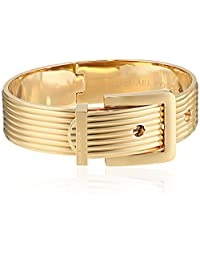 Michael Kors Ribbed Padlock Buckle Bangle Bracelet