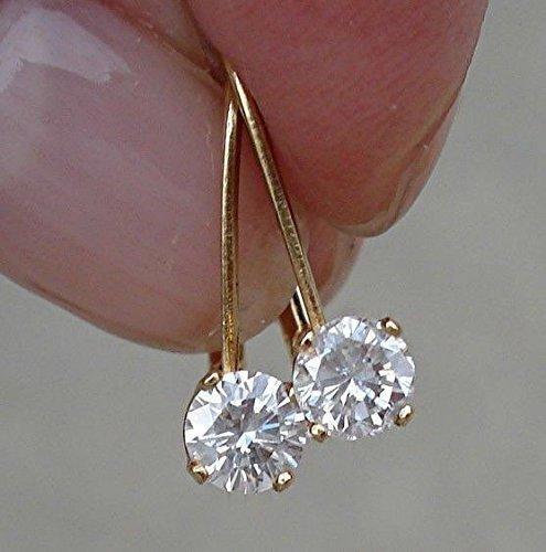 Drop 1/2 Carat Diamond Earrings (Leverback Solitaire Drop Diamond Earrings SI I-J 1/2 Carat)