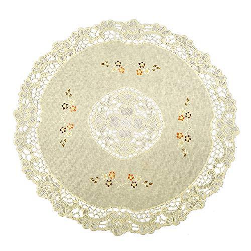 Seneca Vinyl Lace Placemats (Set of 4) Round
