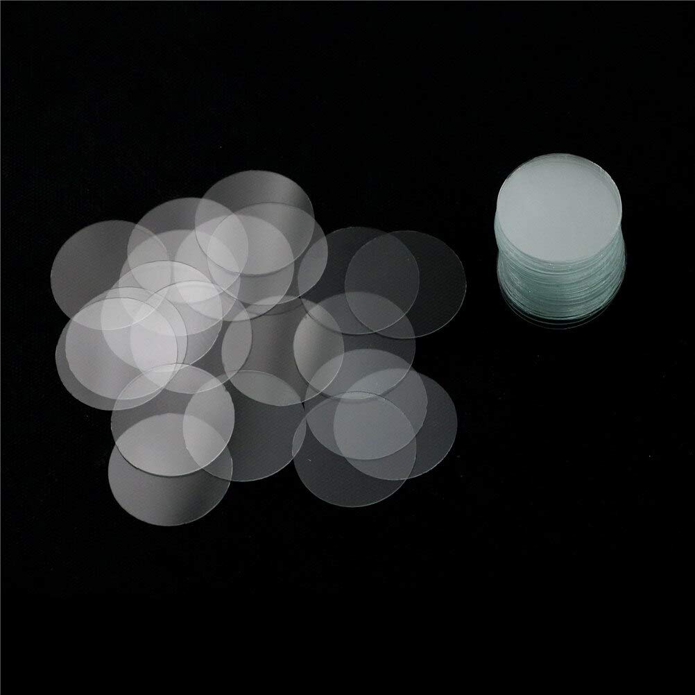 Terrarum HELTC 100Pcs//lot 16mm Blank Round Microscope Cover Glass Cover Slips for Lab Medical