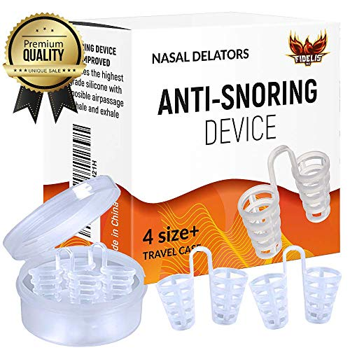 Anti Snoring Nasal Dilator | Snore Stopper Solution | Nose Vents for a Restful Sleep and Instant Relief from Nasal Congestion | Natural, Effective, Reusable | Set of 4 with Travel Case