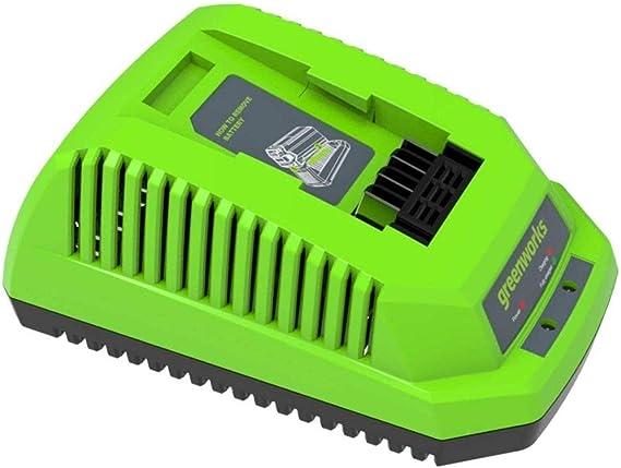 Greenworks Tools Akku Schnellladegerät G40c Li Ion 40 V 4a 60 Min Ladezeit Bei 2ah Akku Passend Für Alle Geräte Und Akkus Der 40 V Greenworks Tools Serie Baumarkt