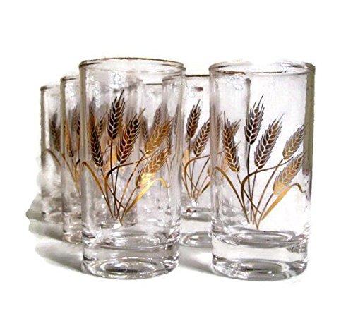 Homer Laughlin Golden Wheat Juice Glasses - Set of ()