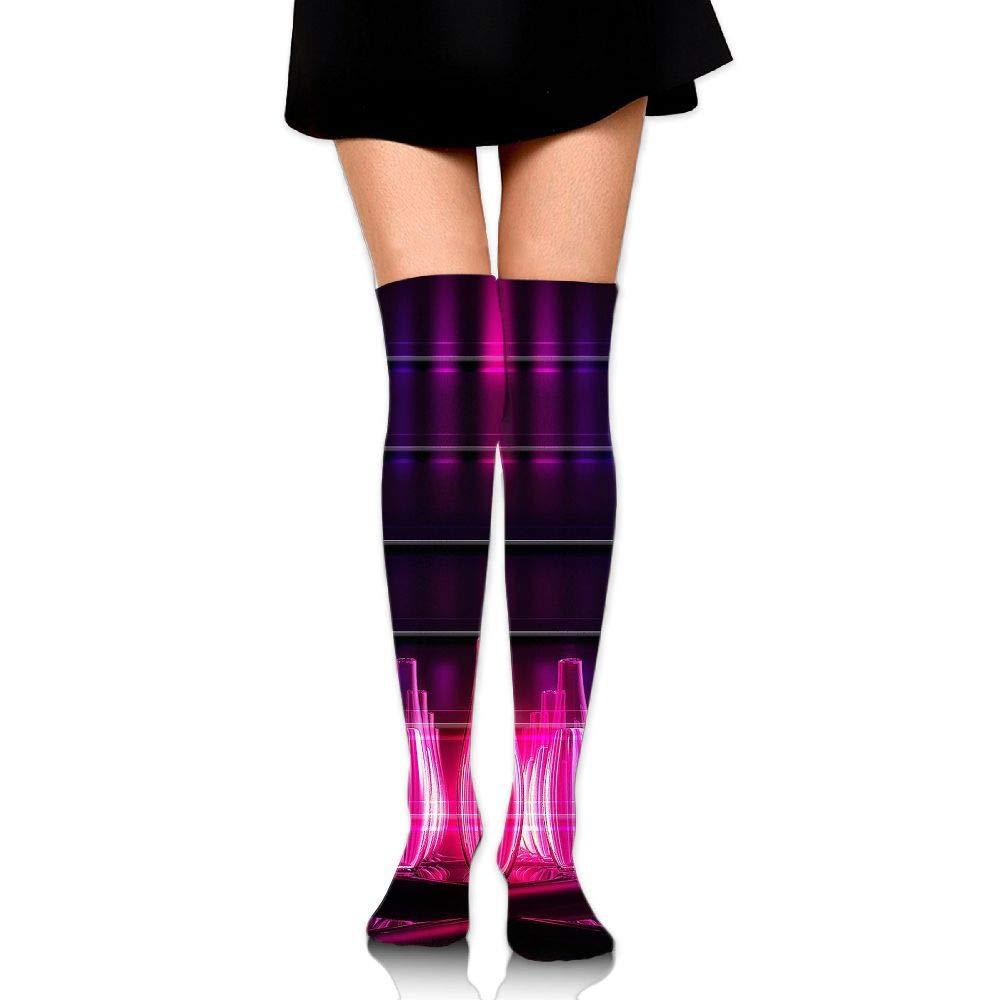 High Elasticity Girl Cotton Knee High Socks Uniform Red Bowling Balls Women Tube Socks