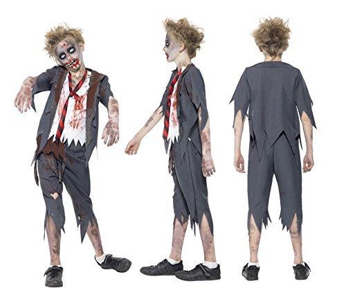 TrendyFashion Big Boys' Halloween Zombie Groom School Costume Fancy Medium (7-9 Yrs) Zombie School Boy -