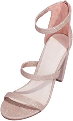 sandals with glitter strap