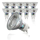 LED light bulbs I 10 x GU10 I 50 W halogen equivalent I bright illumination for all living areas I modern, incandescent light I warm white I long lifespan I 10 x 5 W