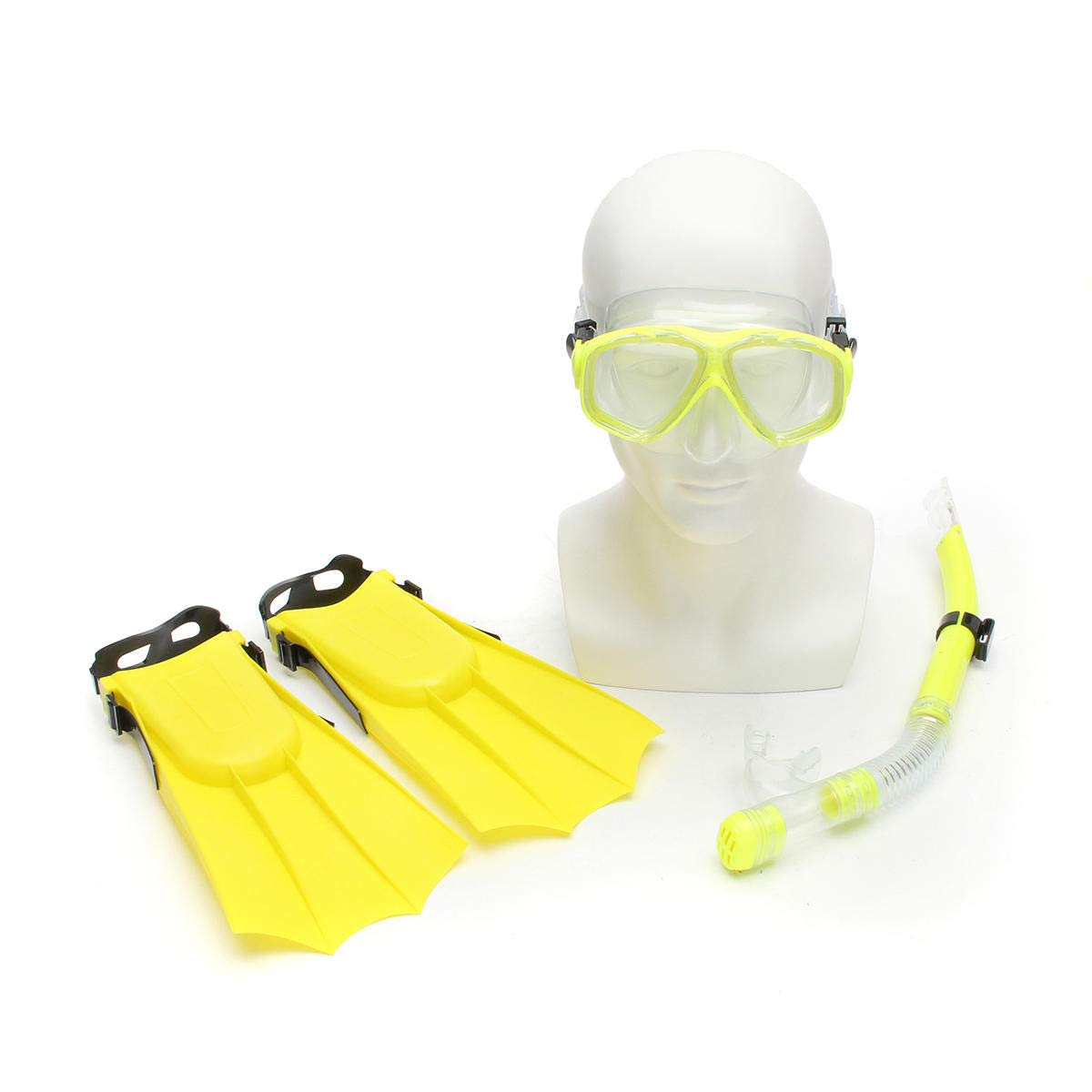 Shop Sport Kid Snorkel Mask Scuba Goggles + Breathing Tube+ Webbed Feet Swimming Diving Set - Yellow by Shop Sport (Image #1)
