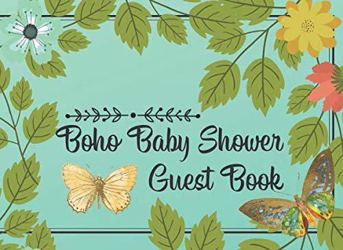 Boho Baby Shower Guest Book: Beautiful Modern Design Features Fun Guest Prompts and a Handy Gift Log