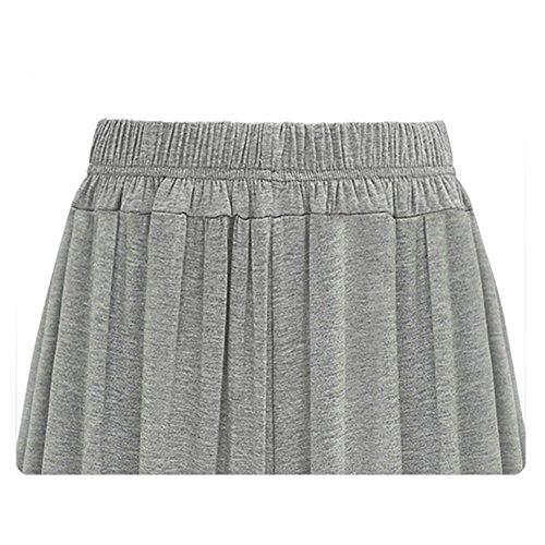 Mujeres Ancho Pierna Pantalones Casual Gray