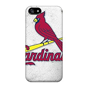 LauraAdamicska Iphone 5/5s Shock-Absorbing Hard Phone Cover Provide Private Custom High-definition St. Louis Cardinals Image [tkv10955xQTx]
