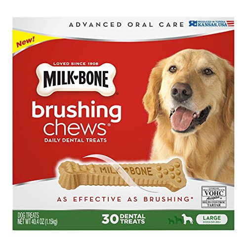 - Milk-Bone Brushing Chews Daily Dental Treats, Large (30 ct.) ,40.4 oz (1.15kg)