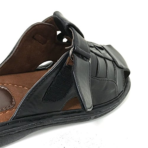G4u-cts Mens Sandales Sangle Réglable Fermé Toe Slide Casual Pêcheur Été Flip Flops Chaussures Noir-0982