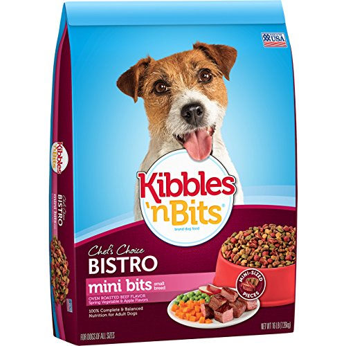 Kibbles 'n Bits Bistro Mini Bits Small Breed Oven Roasted Beef Flavor Dog Food, 16 lb, 1 Count