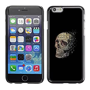 GOODTHINGS Funda Imagen Diseño Carcasa Tapa Trasera Negro Cover Skin Case para Apple Iphone 6 - cráneo significado abstracto muerte negro