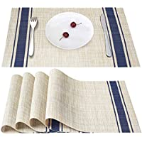 Smeala Placemats Set of 4, Heat Insulation & Stain...