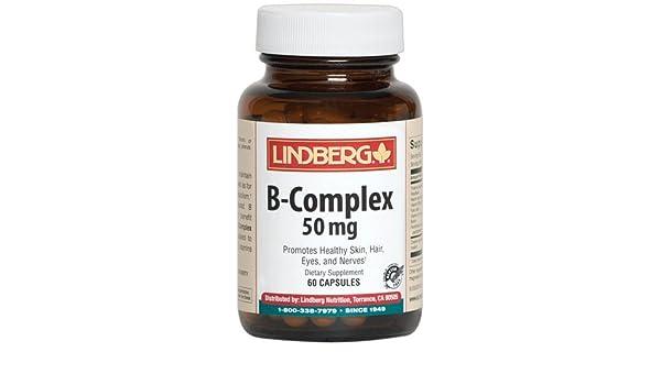 Amazon.com: Lindberg Vitamin B-Complex 50 mg, 60 Capsules: Health & Personal Care