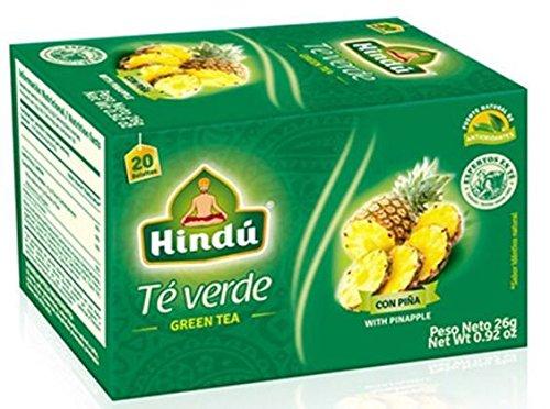 Hindu Green Tea with Pineapple / Te Verde Con Pina 26g (8 packs)