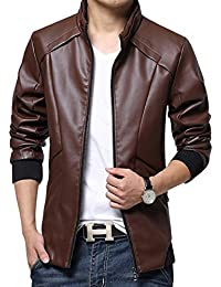 Amazon.com: Red - Leather & Faux Leather / Jackets & Coats ...