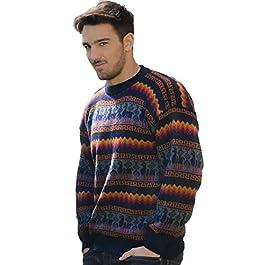 Gamboa – Alpaca – Genuine Sweater for Men – Fire Colors