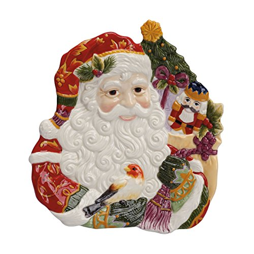 Fitz & Floyd Regal Holiday Collection Santa Canapé (Holiday Santa Canape Plate)