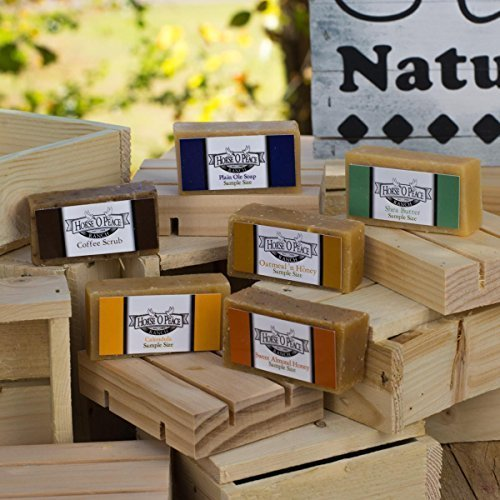 Herbal Handmade Goat Milk Soap Sample Pack (Unscented) Horse O Peace Ranch