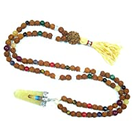 Rudraksha Mala Beads Meditation japamala Navgraha Yoga Healing Jewelry Remove Obstacles