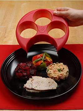 Meal Measure Portion Control- by MealMeasure 1 Each of Red, Yellow, Blue