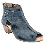 Earth Women's Intrepid Mid Heel Sandal,Moroccan Blue Soft Buck,US 8.5 M