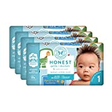 The Honest Company Baby Diapers with Trueabsorb Technology, Farm Fresh, Size 1, 140 Count
