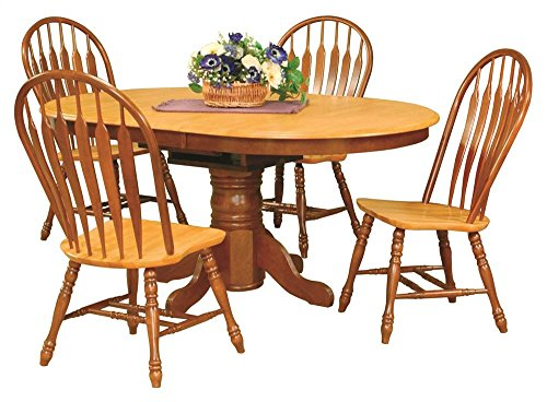 5-Pc Eco-friendly Oval Dining Set