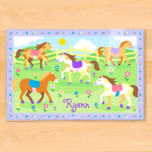 Olive Kids Patchwork Ponies Personalized (Olive Kids Personalized Placemat)