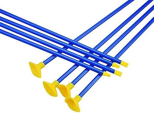 ZSHJG 12 Pack 18 Inch Children Arrows Youth Sucker Arrows Safe Shooting Replacement Suction Cup Arrows Kids Game Arrows