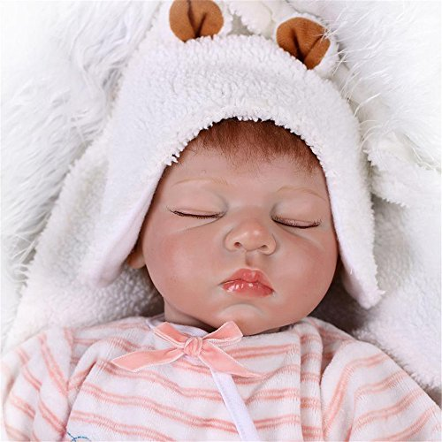 [Fan Moon Baby Doll Soft Silicone Sleeping Dolls Christmas Gift 22-Inch] (Sit And Be Fit Costume)